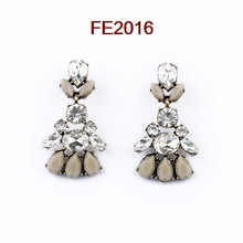 quality vintage accessories 2014 wholesale rhinestone women fashion luxury flower earrings designs