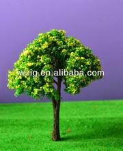 model train ho scale miniature building/architecture flower colorful model tree