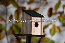 Outdoor Wooden Wild Bird House,Wooden Bird Cage,Bird Nesting Box