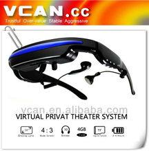 New design Vrtual Display 3D HD bluetooth video glasses HDMI