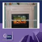 Glass ceramic for fireplace