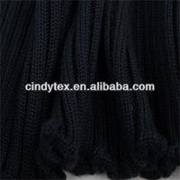 3g navy thick lace acrylic lycra 3x3 rib knitting fabric