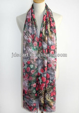 butterfly adult toy for women SYP-045# 100% polyester Printing scarf digital printed scarf