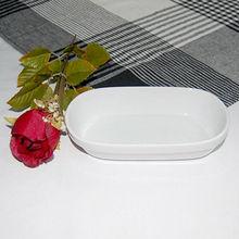 Small antique white dinner porcelain plate