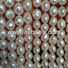 10-11MM White OVAL Baroque Big Large Freshwater Pearls AAA