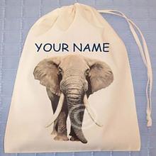 cute animal cotton drawstring gym bag