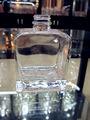 Nobre pequeno claro quadrados de fundo grosso vinho garrafa de vidro 500ml( fábrica de vidro)
