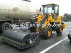 wheel loader pick up broom mobile sweeper