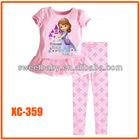 2014 Clothing Sets Autumn-summer Children Baby Girls sofia Pajamas Suits Long Sleeve T-shirt+Long Pants Kids Twinset xc358