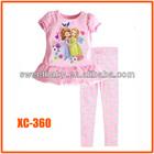 Clothing Sets Autumn-summer Children Baby Girls Pajamas sofia Suits Long Sleeve T-shirt+Long Pants Kids Twinset xc359
