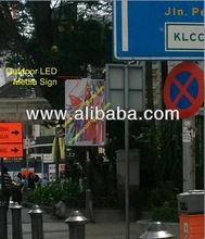 Outdoor LED media sign