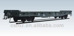 Flat car, railway car, trailer, freight wagon