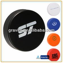 Customed logo hockey puck stress ball
