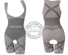 S-Shaper Women Seamless Body shaper Full Body Magic Bamboo Charcoal Natural Slimming Body Fir Corset Shaper