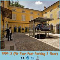 2 floor lift slide automated smart car parking system hotel parking lift