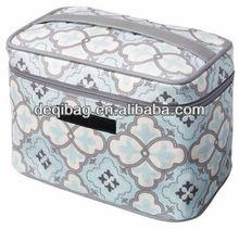 Classic coated canvas Travel Train Case makeup bag hot sale