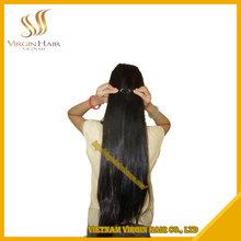 Vietnamese Human Virgin Hair Straight Machine Weft Hair Extension 16 inch
