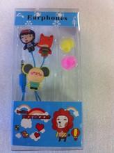 Free sample PVC cartoon funky earphone for giveaway gift