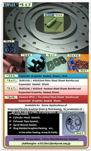 Expanded graphite gasket sheet for non silicone sealant