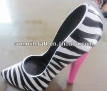 Zebra tamanho grande de alta heel shoe telefone vinho titular suporte lembranças
