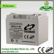 MF gel battery 12v 40ah DOUBLE TECH