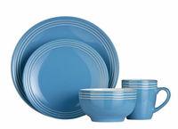 16pc cornish blue dinner set stoneware.