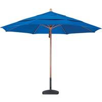 11' Wood Market Umbrella - Fiberglass Ribs - Pacifica