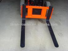 Forklift extension forks as wheel loader attachment