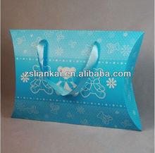 China manufacture recycled logo printed brown kraft pape pillow box