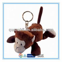 "Custom mini plush monkey keychain 4"""