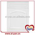 pvc envolto portas de armário de cozinha branco antigo