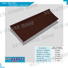 copper galvanized steel metal deck cement profile roof shingle