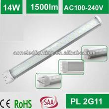 2014 new design led 2g11 tube plug lamp lighting 14W