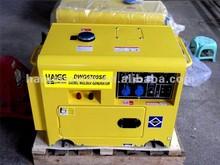 5kw / 180A/ 210A Portable canopy diesel generator welder / silent diesel welding generator