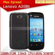 Cheap Lenovo A208T 100% New Original 3.5 inch GSM+TD-SCDMA 3G Android 2.3 smart phone lenovo a208t cellphone