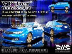 VFiber VR2 Subaru Impreza WRX STI 5Dr Hatchback EJ207 2008 2009 2010 Body Kit Bumpers Lip Spoiler Side Skirt Caps Rear End Caps