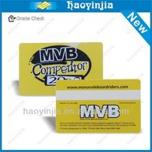 white pvc vip calling card