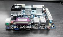 mini itx VIA mainboard pd10000 DDR2 motherboard with 2 lan /VGA port/4*COM socket370 for car pc