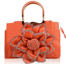 2014 ladies stylish bags with big flower