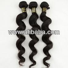 Loose Wavy Virgin Brazilian Remy Hair Weave 12 Inch - 26 Inch Natural Black