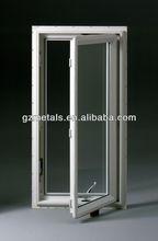 common or thermal break aluminum profile casement crank window with grill design