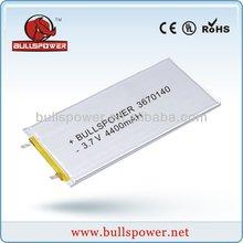 4400mah high capacity rechargeable li-polymer battery