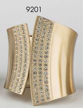 bright golden with crystal metal bracelet