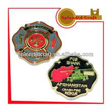 Afghanistanc crash fire rescure coin souvenir