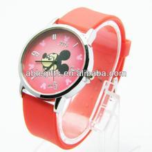 2014 popular wholesale silicone buckle wristwatch sixe arabic