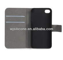 PU mobile phone cover flip case with card slot for iphone 5