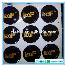 gold printing 3cm round epoxy stickers