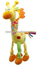 giraffe kids toys giraffe squeaker toys plush giraffe toy for baby