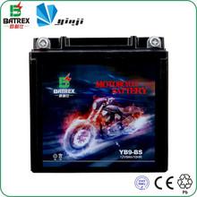 Plastic Case Lead Acid Rechargeable Motorbike Battery 12v9ah YB9-BS