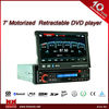 7 inch motorized retractable DVD player RDS DAB bluetooth RCA USD SD AUX MP3 touch screen kia rio car dvd multimedia